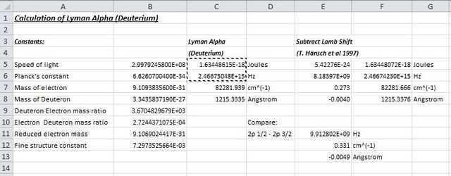 calculation of lyman alpha