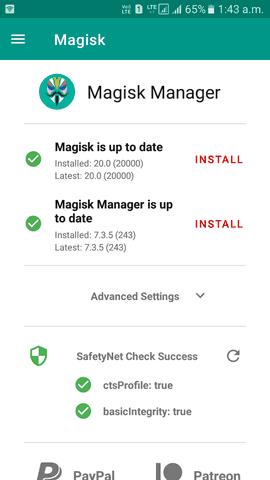 Magisk SafetyNet success
