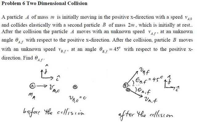 Two dimensional collision problem